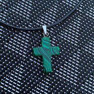 Cross Stone Charm • Pendant • Chakra Necklace